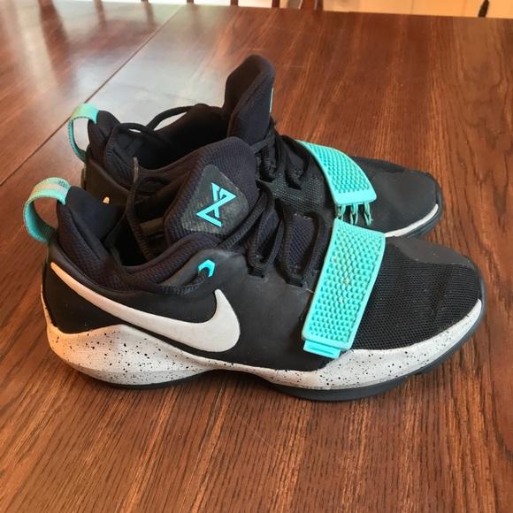 pretty nice 2560b 339da Nike PAUL GEORGE 1 Big Kid's 6.5 Black Aqua Bone